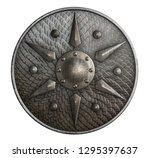 round metal shield covered by... | Shutterstock . vector #1295397637