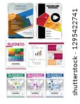 corporate booklet or... | Shutterstock .eps vector #1295422741