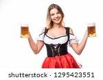 young sexy oktoberfest woman... | Shutterstock . vector #1295423551