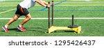 a high school teenage boy is... | Shutterstock . vector #1295426437