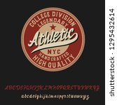 athletic. classic retro badge....   Shutterstock .eps vector #1295432614