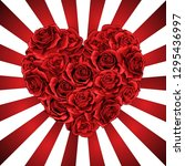 Heart Made Of Red Roses In...