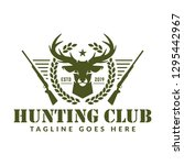 hunting logo deer hunting stamp | Shutterstock .eps vector #1295442967
