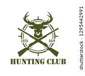 hunting logo   sport  deer... | Shutterstock .eps vector #1295442991