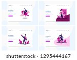 vector set businessman. web... | Shutterstock .eps vector #1295444167