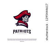 patriots logo design vector.... | Shutterstock .eps vector #1295444617