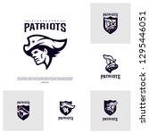 set of patriots logo design... | Shutterstock .eps vector #1295446051