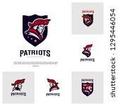 set of patriots logo design... | Shutterstock .eps vector #1295446054