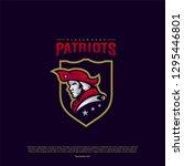 patriots logo design vector.... | Shutterstock .eps vector #1295446801