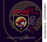 patriots logo design vector.... | Shutterstock .eps vector #1295446807