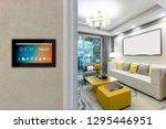 smart home with screen | Shutterstock . vector #1295446951