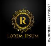 luxury logo template   Shutterstock .eps vector #1295448097