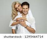 portrait of beautiful cheerful...   Shutterstock . vector #1295464714
