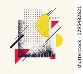 retro abstract geometric... | Shutterstock .eps vector #1295482621