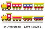 cartoon cute train and railway... | Shutterstock .eps vector #1295485261