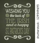 cool typographic design for st. ... | Shutterstock .eps vector #129549695