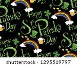 st.patrick's day pattern vector. | Shutterstock .eps vector #1295519797