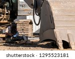 the repairman is welding to the ... | Shutterstock . vector #1295523181