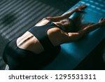 beautiful young woman working...   Shutterstock . vector #1295531311