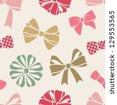 vector seamless decorative... | Shutterstock .eps vector #129553565