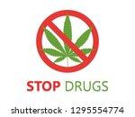 stop drugs icon illustration | Shutterstock . vector #1295554774
