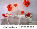 Red Heart Balloons In A Vintag...