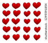 set of red hearts | Shutterstock .eps vector #1295591854