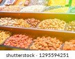 assortment of organic dried... | Shutterstock . vector #1295594251