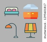 contemporary icon set. vector... | Shutterstock .eps vector #1295601817