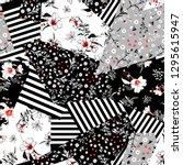 monotone black and white  in...   Shutterstock .eps vector #1295615947