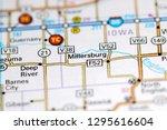 Millersburg. Iowa. USA on a map