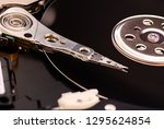 closeup opened disassembled... | Shutterstock . vector #1295624854