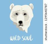 serious wild polar bear. logo...   Shutterstock .eps vector #1295640787