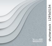 white papers with corner curl ... | Shutterstock .eps vector #129565154
