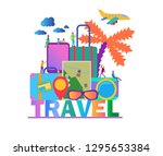 flat vector color illustration... | Shutterstock .eps vector #1295653384