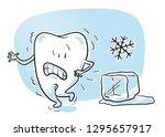 cute cartoon tooth caracter ... | Shutterstock .eps vector #1295657917