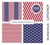 seamless patterns with american ... | Shutterstock .eps vector #129565829