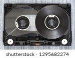 disassembled audio cassette... | Shutterstock . vector #1295682274
