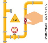 opening or closing the gas...   Shutterstock .eps vector #1295711977