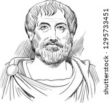 aristotle  384 322 bc  vector... | Shutterstock .eps vector #1295733451