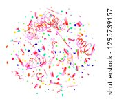 confetti. colorful confetti on... | Shutterstock .eps vector #1295739157