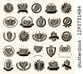 corn label and element set.... | Shutterstock .eps vector #1295751484