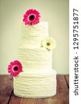 naked wedding cake with... | Shutterstock . vector #1295751877