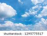 beautiful blue sky with cloudy. ... | Shutterstock . vector #1295775517