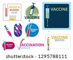 vaccine illustration ... | Shutterstock .eps vector #1295788111
