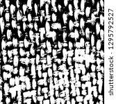 brush grunge pattern. white and ... | Shutterstock .eps vector #1295792527