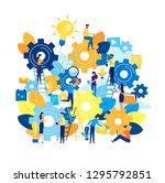 business concept vector... | Shutterstock .eps vector #1295792851