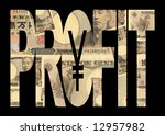 profit text outline with...   Shutterstock . vector #12957982