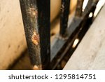 rusted steel  iron fence ... | Shutterstock . vector #1295814751