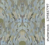 quirky tapestry pattern.... | Shutterstock .eps vector #1295837797